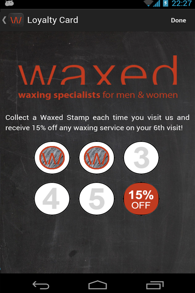 Waxed